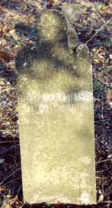 Rebecca's tombstone at Ben Marshall Cemetery.jpg (99279 bytes)